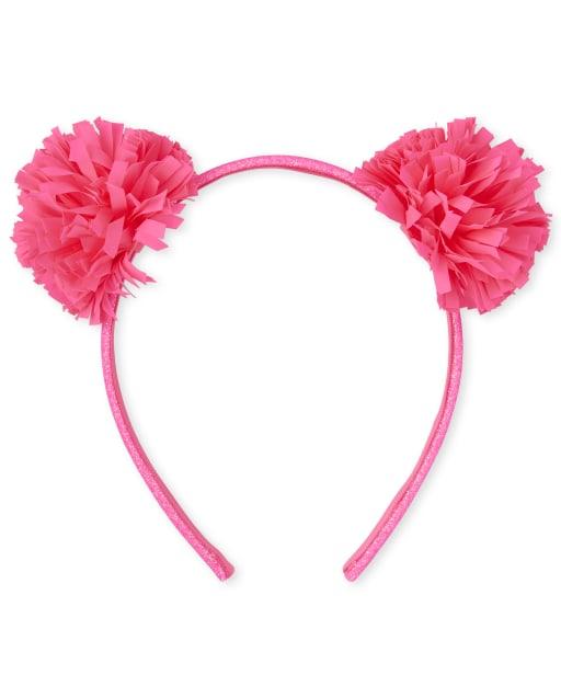 Toddler Girls Glitter Pom Pom Headband