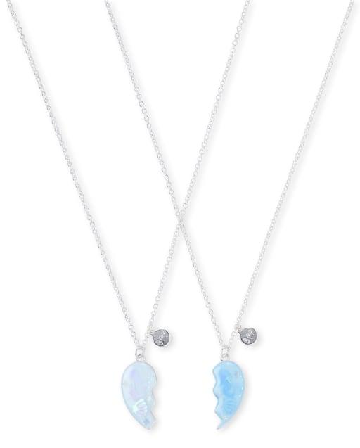 Girls Glitter Mermaid BFF Necklace 2-Pack