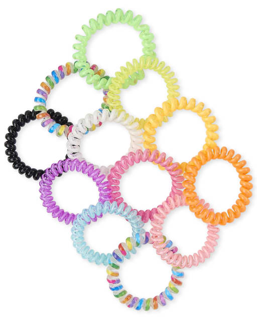 Girls Rainbow Coil Bracelet 12-Pack
