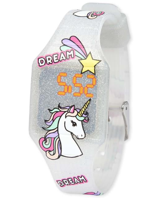 Girls Glitter Unicorn Digital Watch