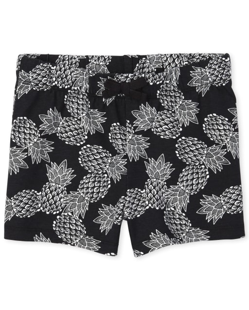 Girls Mix And Match Print Knit Shorts