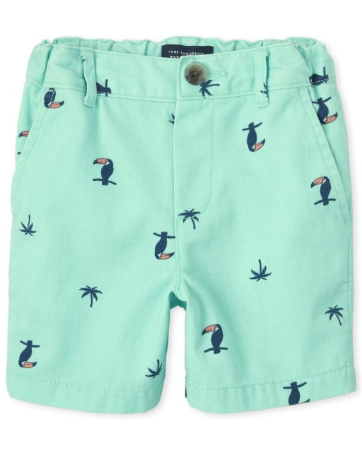 Baby And Toddler Boys Toucan Print Woven Chino Shorts