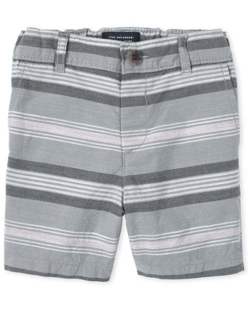 Baby And Toddler Boys Striped Woven Chino Shorts