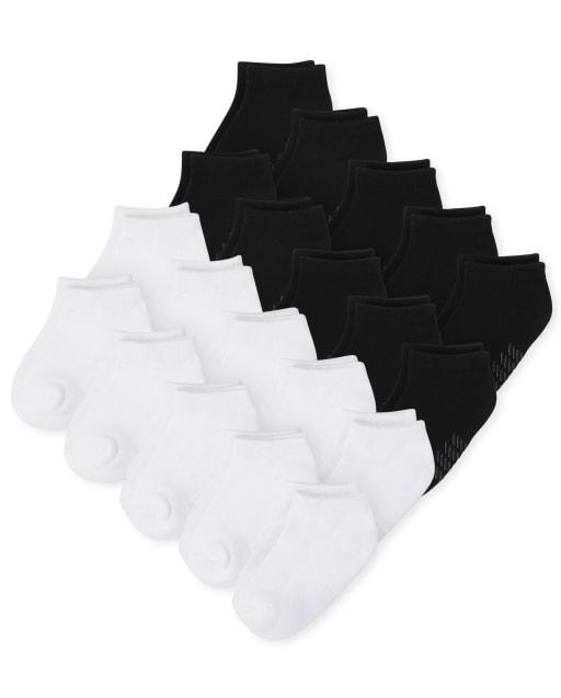 Calcetines tobilleros para niños pequeños, paquete de 20