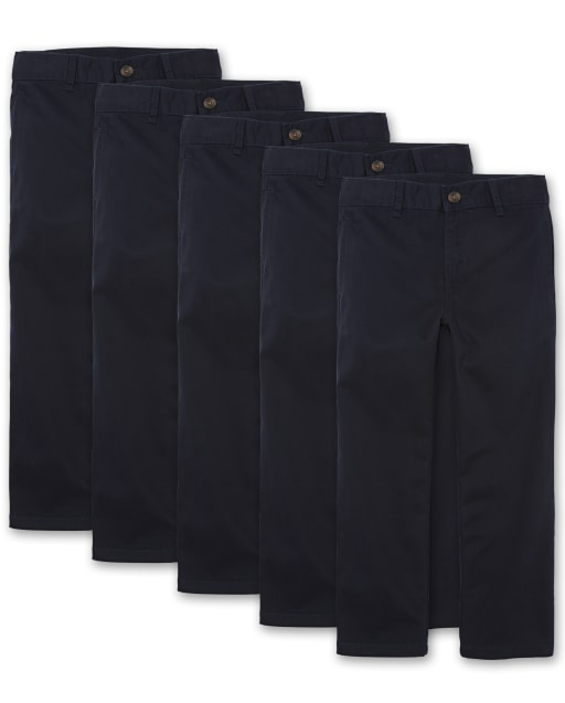 Boys Uniform Woven Chino Pants 5-Pack