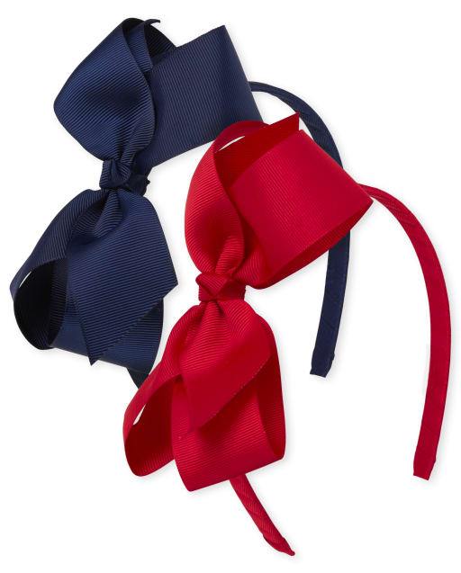 Girls Ribbon Bow Headband 2-Pack