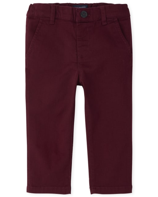 Baby And Toddler Boys Uniform Stretch Skinny Chino Pants