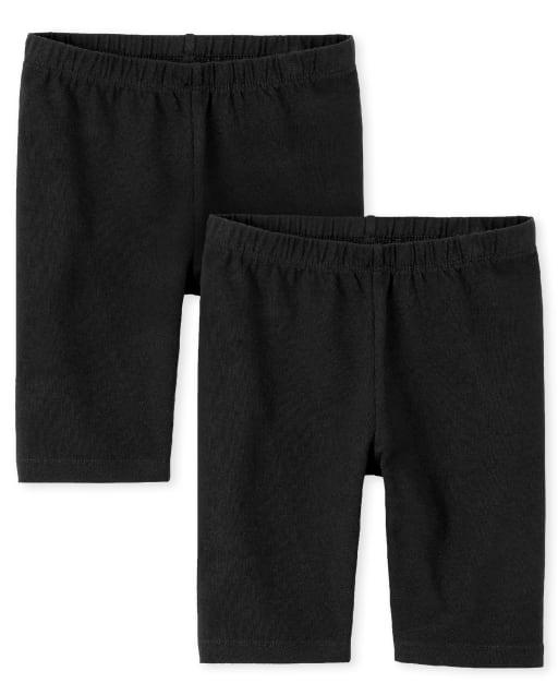 Shorts de bicicleta Mix and Match para niñas, paquete de 2