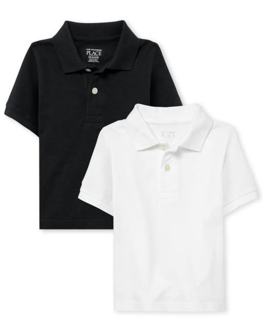 Pack de 2 polos de piqué de uniforme para bebés y niños pequeños