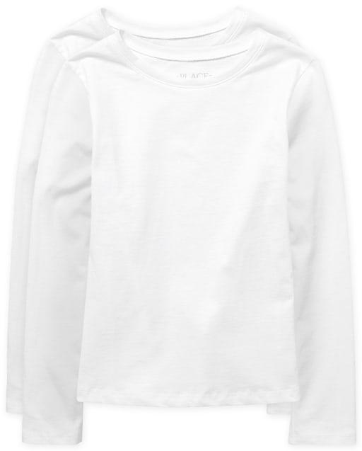 Girls Uniform Long Sleeve Basic Layering Tee