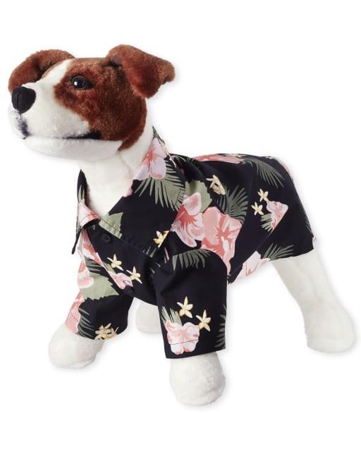 Dog Matching Family Tropical Poplin Button Down Shirt