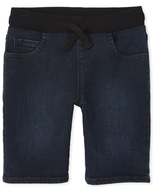 Shorts de mezclilla sin cierre para niños