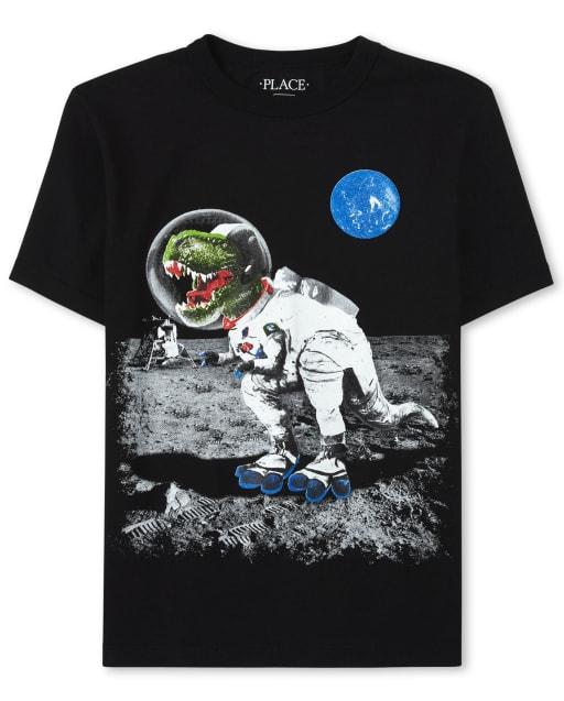 Camiseta estampada Space Dino para niños