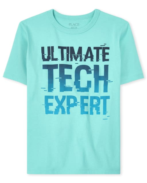 Boys Short Sleeve 'Ultimate Tech Expert' Graphic Tee