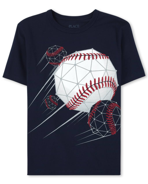 Boys Short Sleeve Baseball Graphic Tee