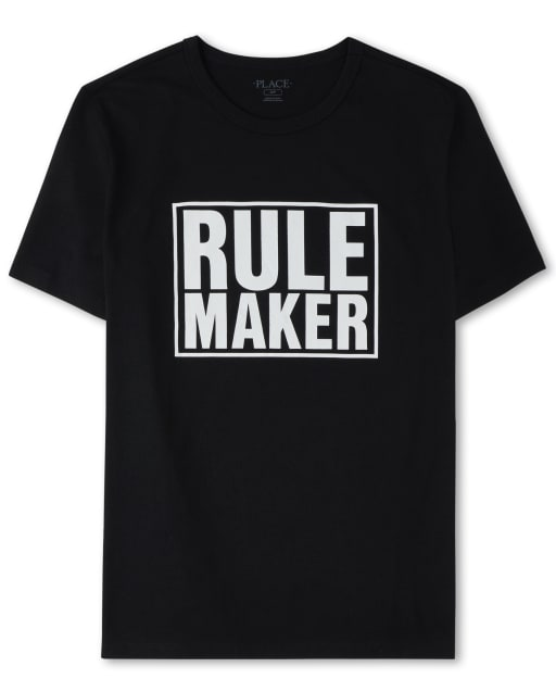Mens Dad And Me Short Sleeve 'Rule Maker' Matching Graphic Tee
