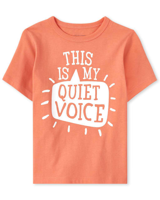 Baby And Toddler Boys Short Sleeve 'This Is My Quiet Voice' Graphic Tee