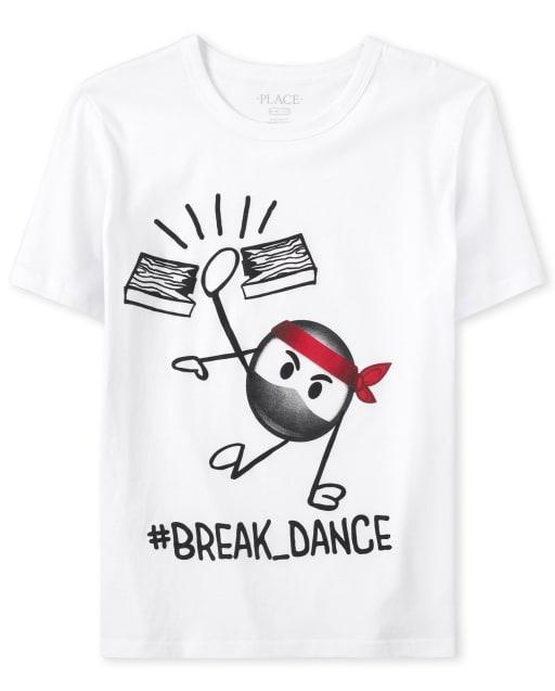 Boys Short Sleeve 'Hashtag Ninja Break Dance' Graphic Tee