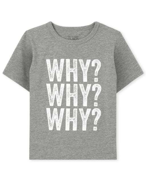 Baby And Toddler Boys Mommy And Me Short Sleeve 'Why' Matching Graphic Tee