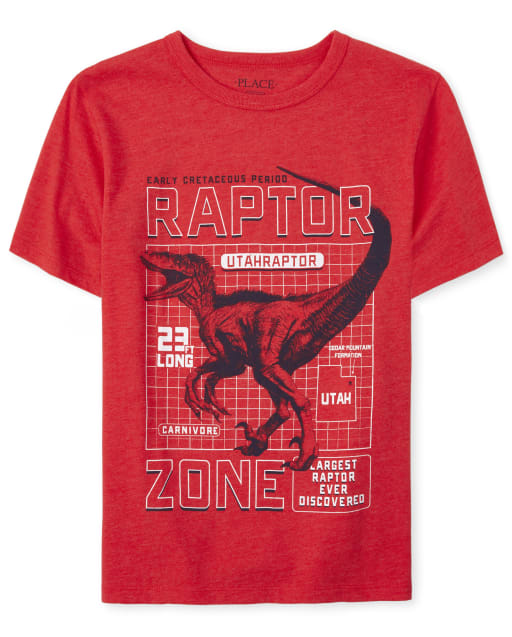 Camiseta estampada Dino para niños