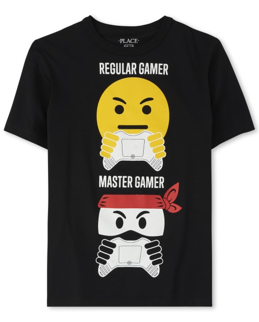 Boys Short Sleeve 'Regular Gamer Master Gamer' Video Game Ninja Graphic Tee