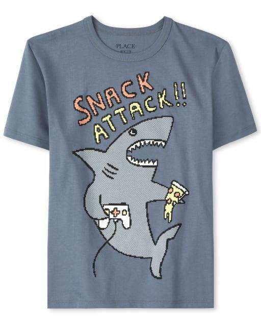 Camiseta estampada Snack Attack Shark para niños