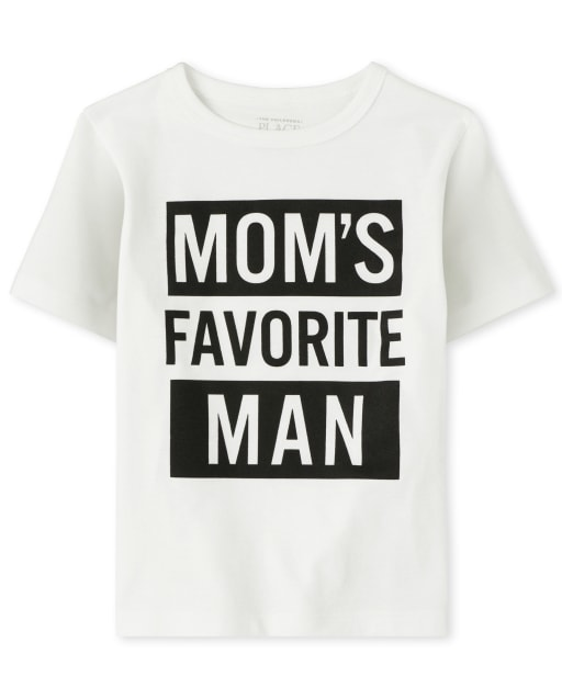 Baby And Toddler Boys Short Sleeve 'Mom's Favorite Man' Graphic Tee