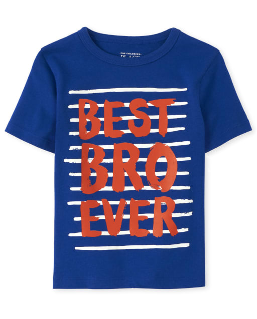 Baby And Toddler Boys Short Sleeve 'Best Bro Ever' Graphic Tee