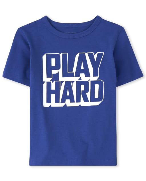 Baby and Toddler Boys Matching Family ' Jugar Hard ' Graphic Tee