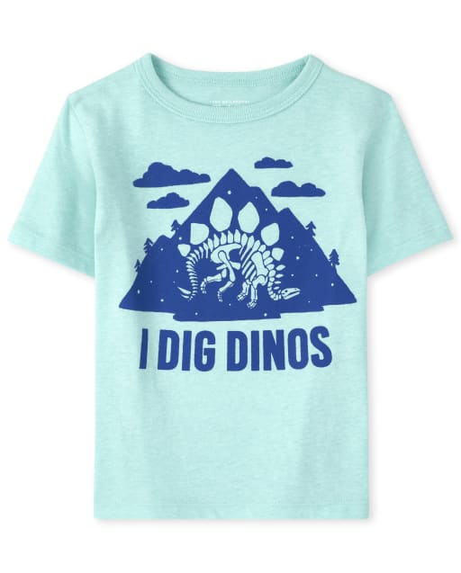 Baby And Toddler Boys Short Sleeve 'I Dig Dinos' Graphic Tee