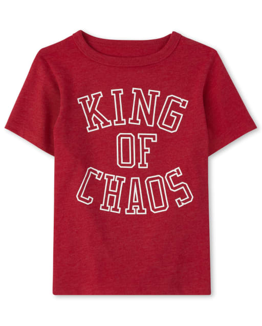Baby And Toddler Boys Short Sleeve 'King Of Chaos' Graphic Tee