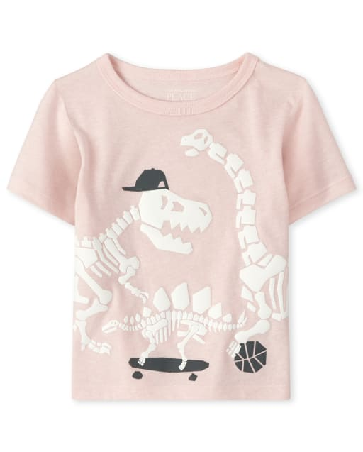 Baby And Toddler Boys Short Sleeve Sports Dino Graphic Tee