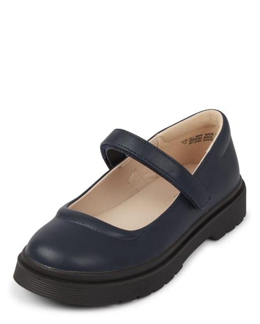 Girls Uniform Faux Leather Shoes