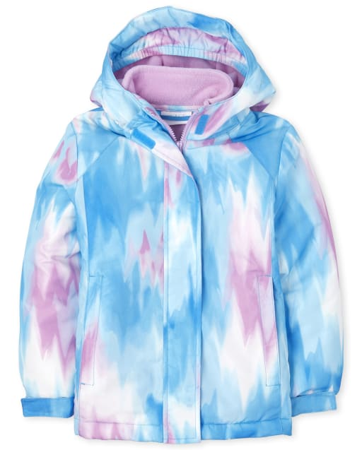 The Childrens Place Girls Print 3 in 1 Jacket