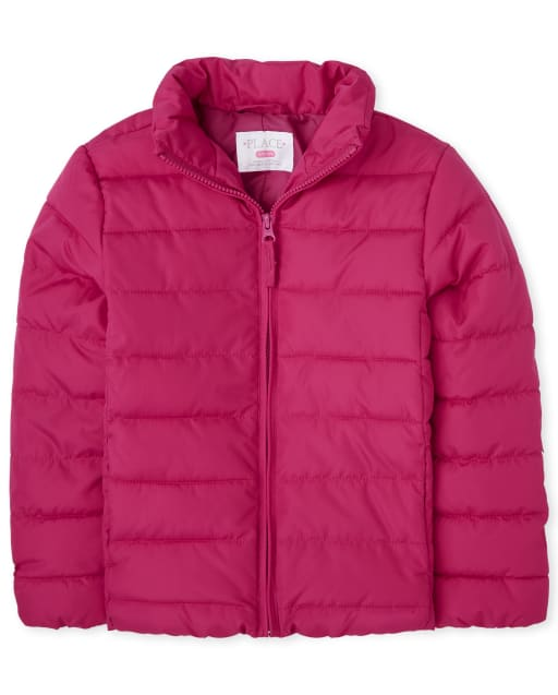 Girls Long Sleeve Puffer Jacket
