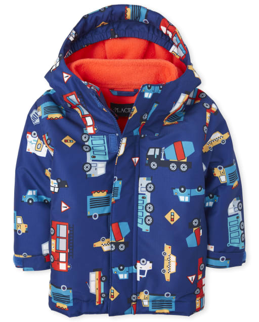 Toddler Boys Long Sleeve Print 3 In 1 Jacket