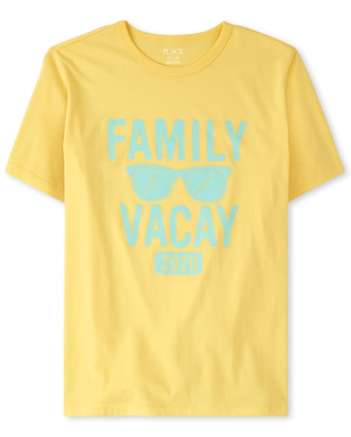 Unisex Adult Matching Family Short Sleeve 'Family Vacay 2020' Graphic Tee