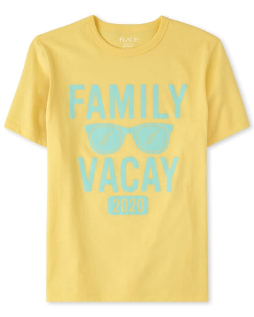 Unisex Kids Matching Family Short Sleeve 'Family Vacay 2020' Graphic Tee