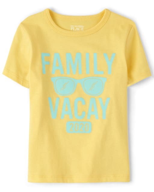 Unisex Baby And Toddler Matching Family Short Sleeve 'Family Vacay 2020' Graphic Tee