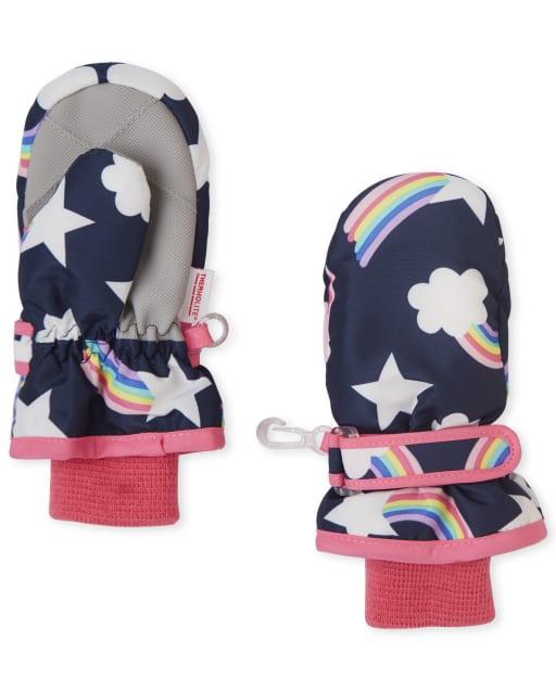 Toddler Girls Rainbow Ski Mittens
