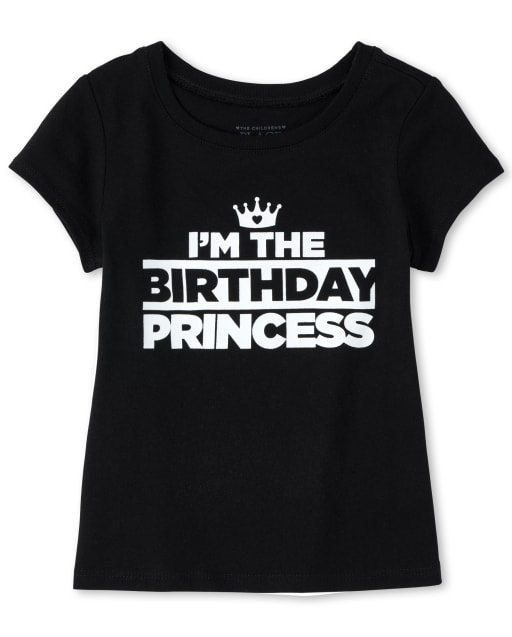 Baby And Toddler Girls Matching Family Short Sleeve 'I'm The Birthday Princess' Graphic Tee