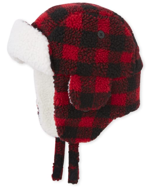 Boys Matching Family Buffalo Plaid Trapper Hat
