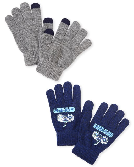 Boys Motorcycle Texting Gloves 2-Pack