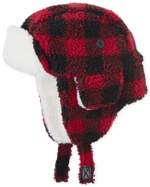 Toddler Boys Matching Family Buffalo Plaid Trapper Hat