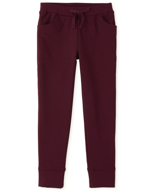 Girls French Terry Cozy Jogger Leggings