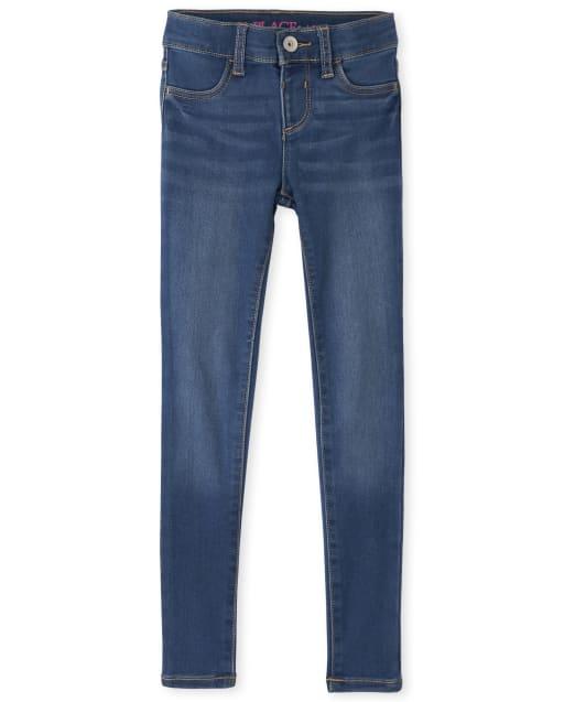Jeans de mezclilla elásticos súper suaves para niñas