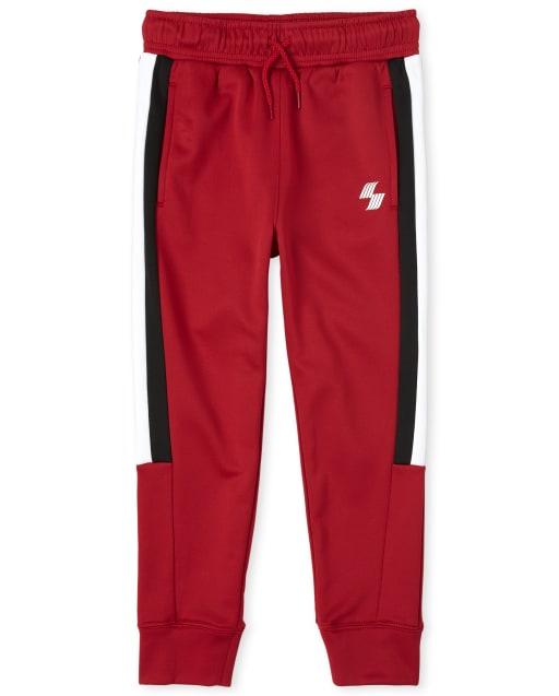 Boys PLACE Sport Side Stripe Knit Performance Jogger Pants