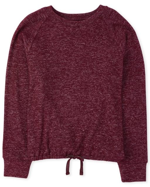Girls Active Long Sleeve Tie Front Lightweight Sweater Top