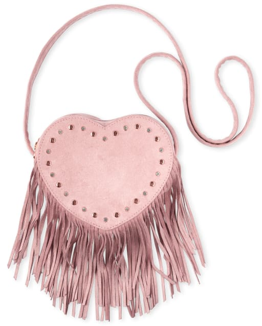 Girls Heart Fringe Bag
