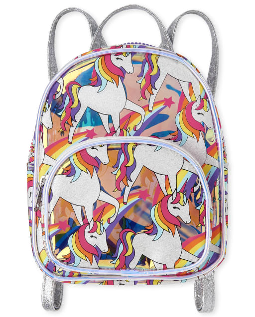 Girls Rainbow Unicorn Mini Backpack